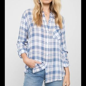 Rails charli plaid button up shirt L